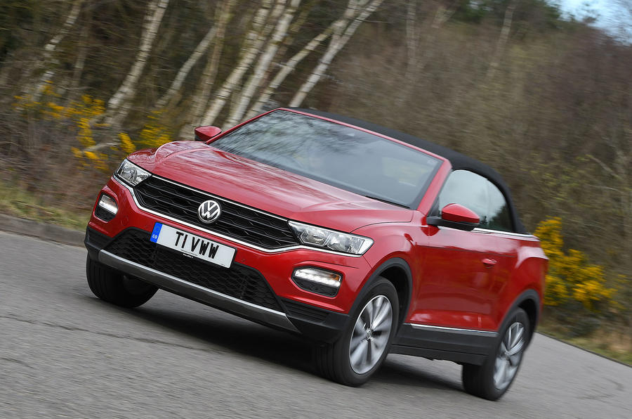 Volkswagen T-Roc Cabriolet 2020 UK first drive review - cornering front