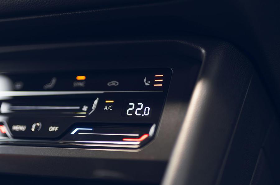 Volkswagen Tiguan Life 2020 : premier bilan de la conduite au Royaume-Uni - contrôle du climat