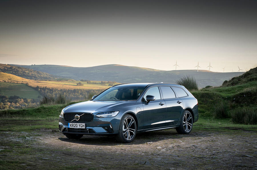 Volvo V90 Recharge T6 2020 UK first drive review - static front