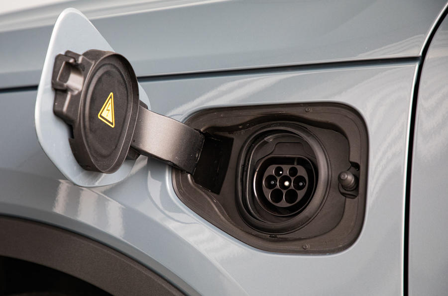 Volvo XC40 Recharge T5 plug-in hybrid 2020 UK first drive review - charging port