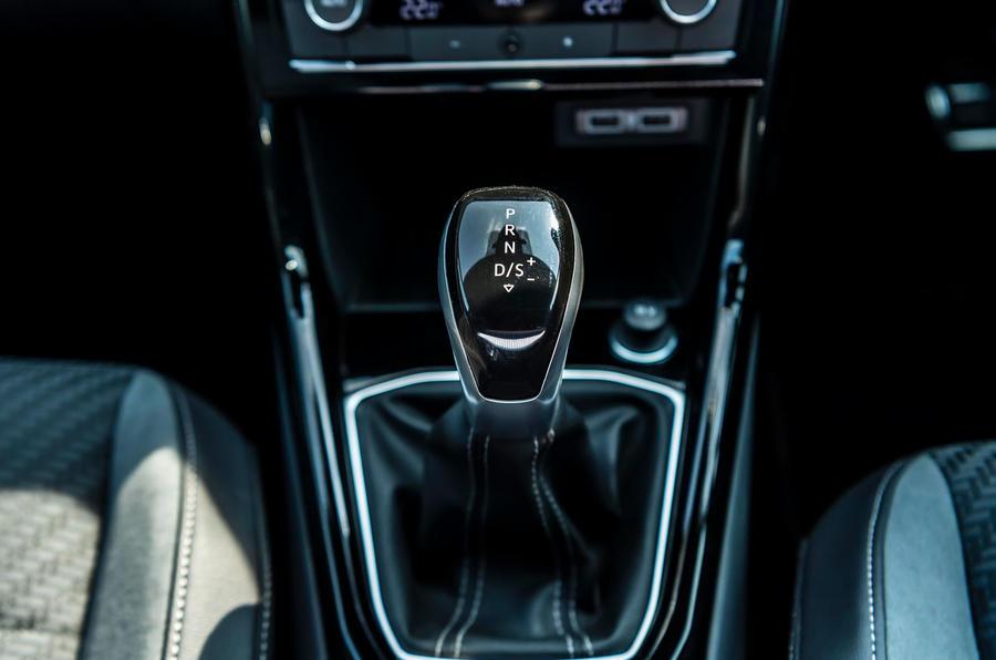 Volkswagen T-Cross R-Line 2020 UK first drive review - gearstick