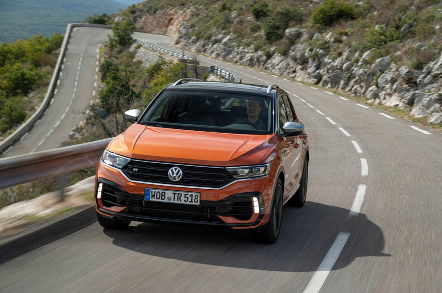 Volkswagen T-Roc R 2019 first drive review - cornering front