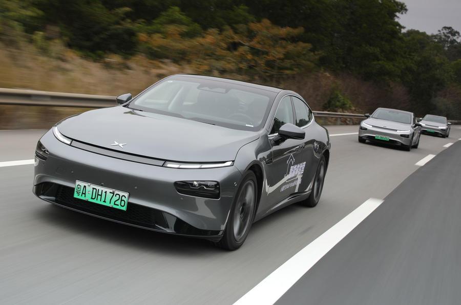 11 Xpeng P7 super longue portée Premium 2021 : convoi de révision