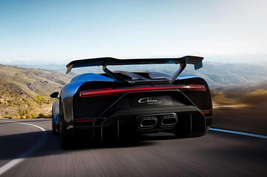 Bugatti Chiron Pur Sport rear close