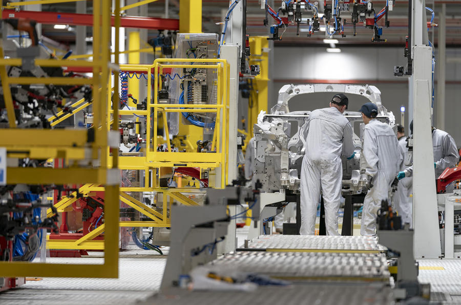 Aston Martin St Athan production line