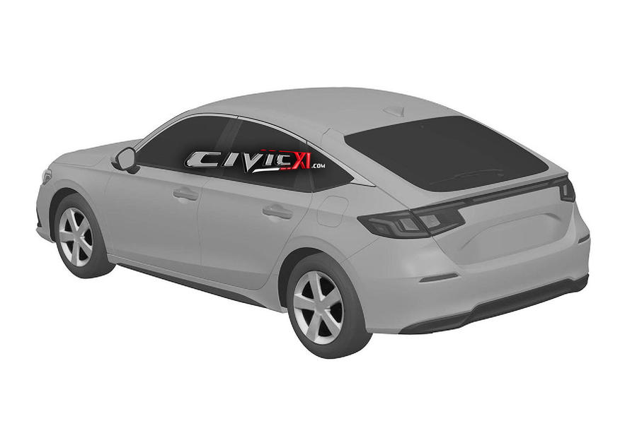 Next civic rear diagonal view