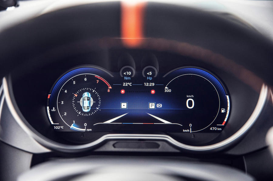Alpine A110S 2019 first drive review - digital cluster