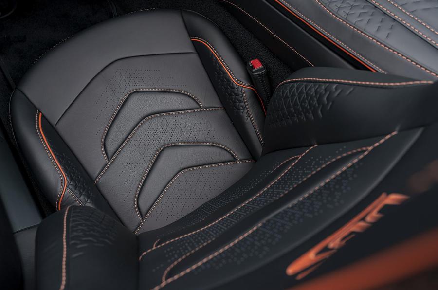 Aston Martin DBS Superleggera Volante 2019 first drive review - seat details