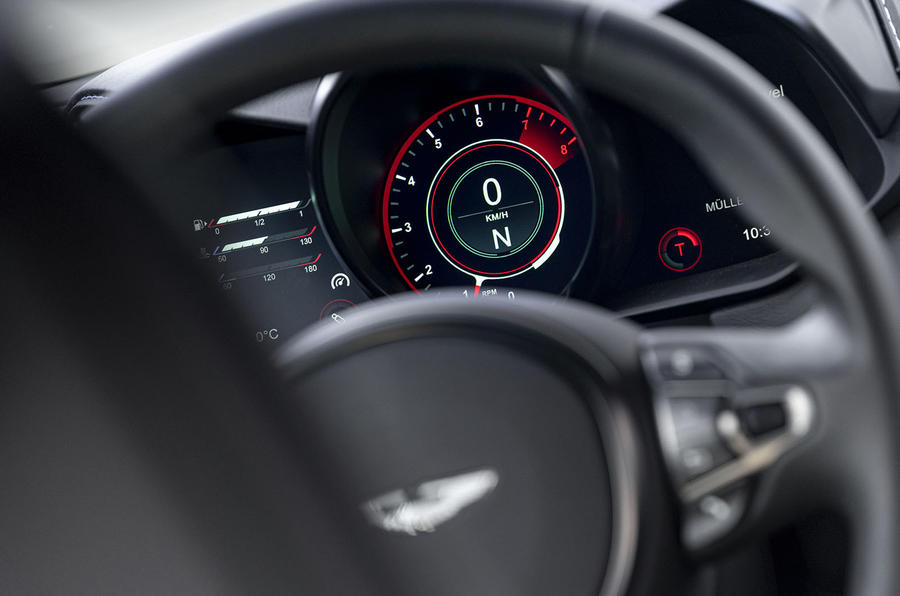 Aston Martin Vantage manual 2019 first drive review - tacho