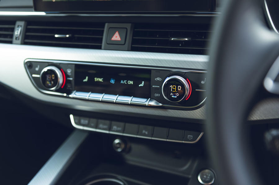 Audi A4 35 TFSI 2019 UK first drive review - climate controls