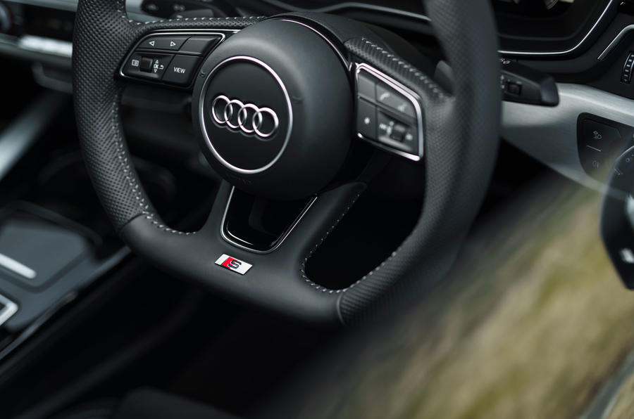 Audi A5 Coupe 2020 UK first drive review - steering wheel