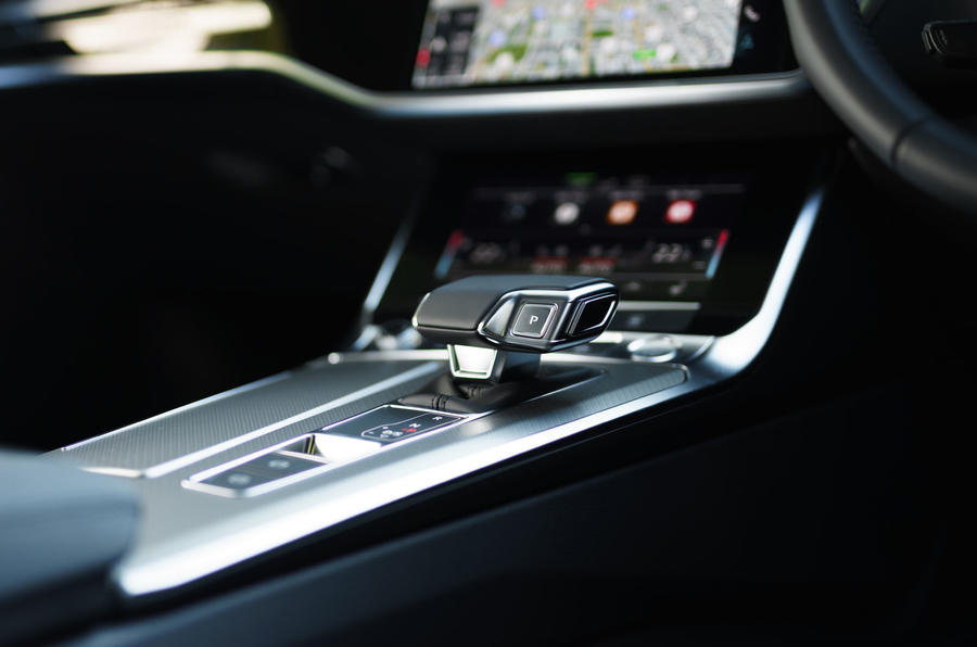 12 Audi A6 TFSIe 2021 UK first drive review centre console