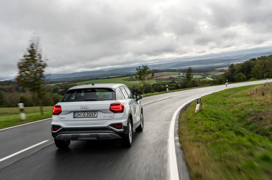 Audi Q2 2020 first drive review - cornering rear