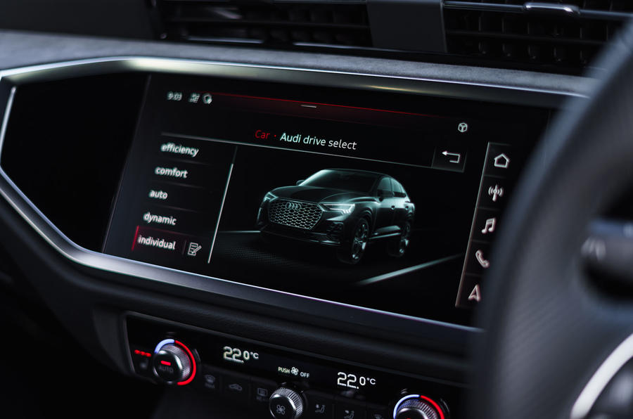 Audi Q3 Sportback 2019 UK first drive review - infotainment