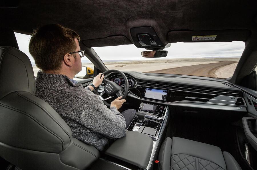 Audi Q8 2018 first drive review Matt Saunders driving