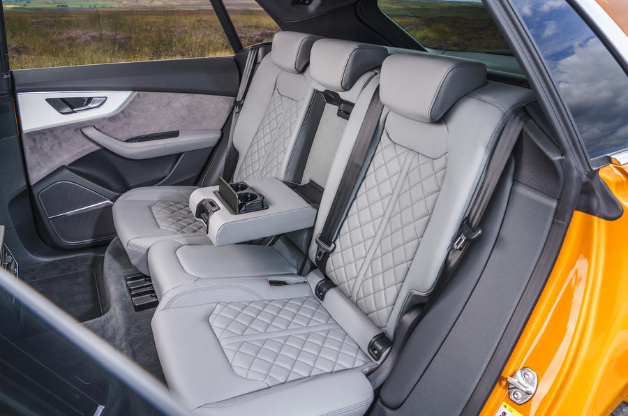 Audi Q8 50 TDI Quattro S-Line 2018 UK first drive rear seats