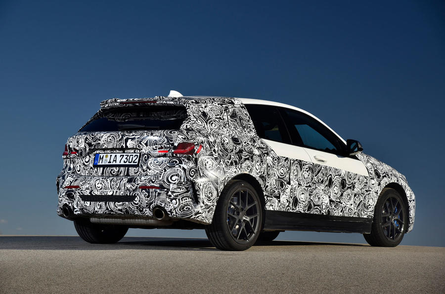 BMW 1 Series 2019 prototype drive - static rear