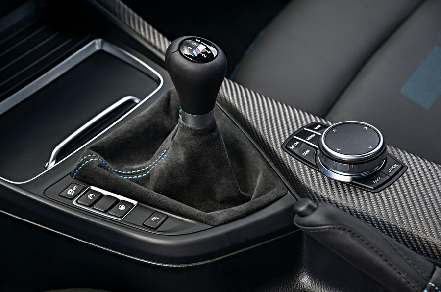 BMW M2 Competition 2018 first drive review gearstick