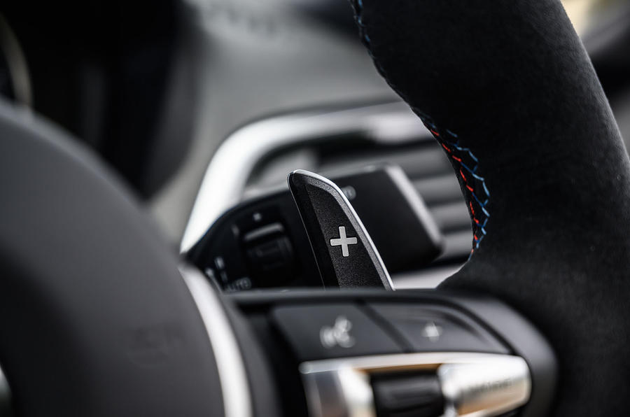 BMW M2 CS 2020 UK first drive review - paddle shifters