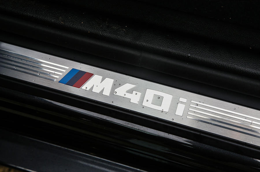 BMW X3 M40i 2018 UK review scuff plates