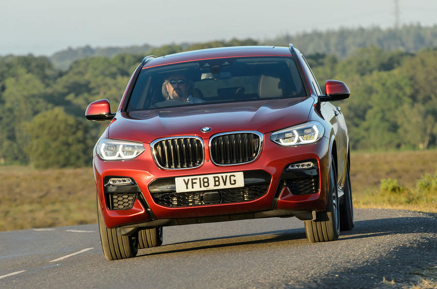 BMW X4 2018 UK first drive review on the road front