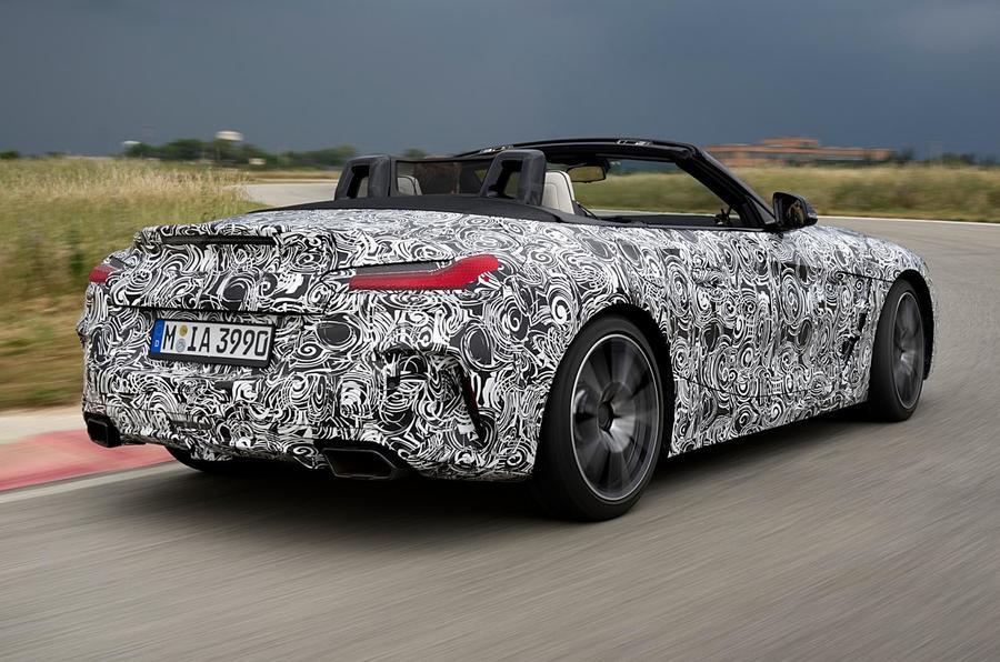 BMW Z4 prototype drive 2018 track rear