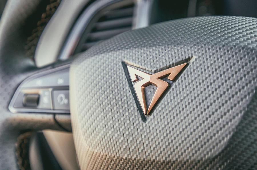 Cupra Ateca 2018 first drive review - steering wheel