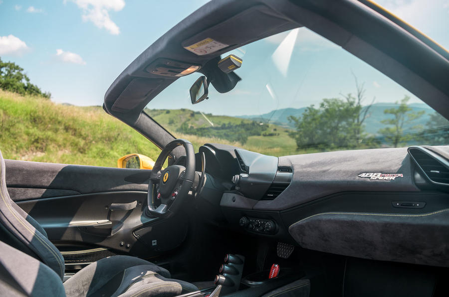 Ferrari 488 Pista Spider 2019 first drive review - dashboard