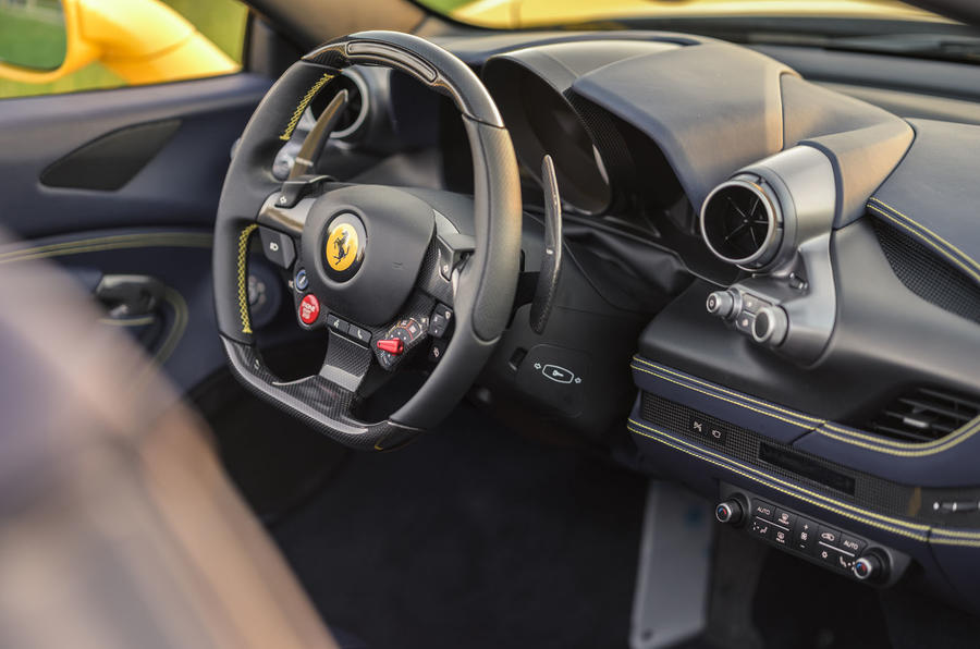 Ferrari F8 Tributo Spider 2020 UK first drive review - dashboard