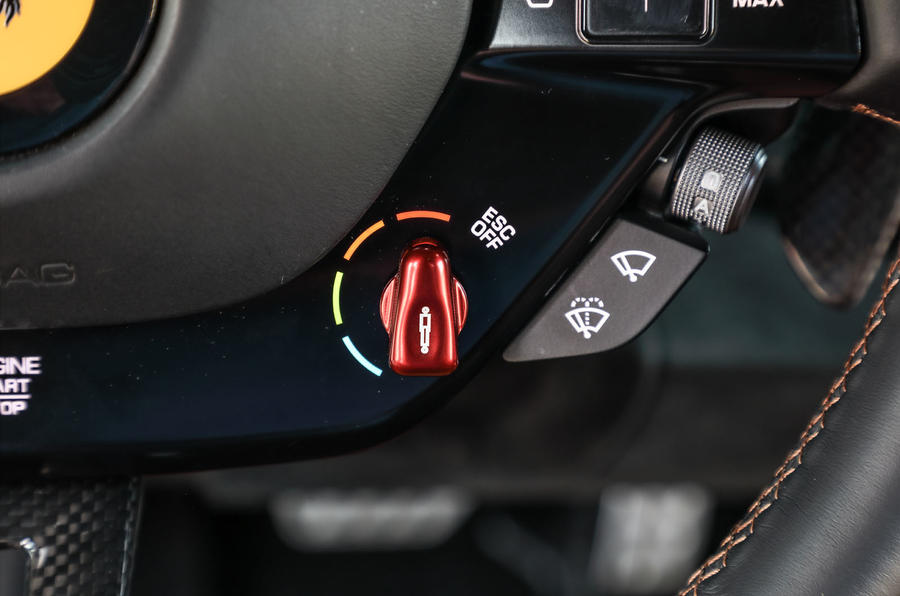 Ferrari SF90 Stradale 2020 first drive review - drive mode dials
