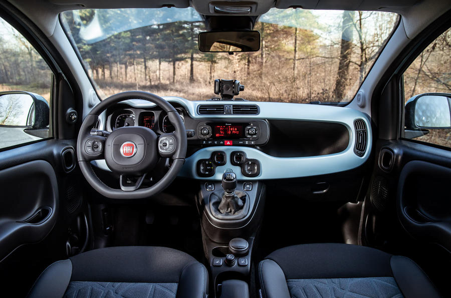 Fiat Panda Cross Hybrid 2020 first drive review - dashboard