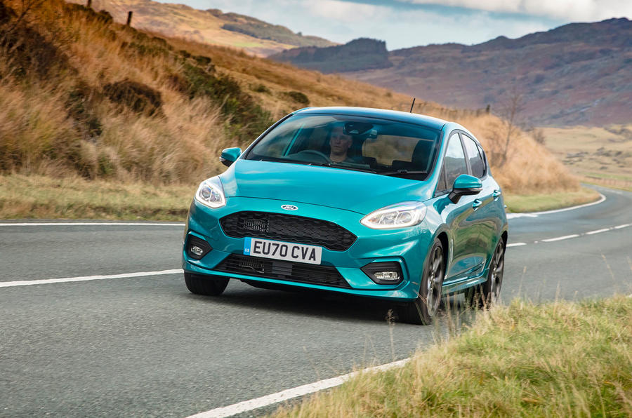 Autocar writers car of 2020 - Ford Fiesta on the road front