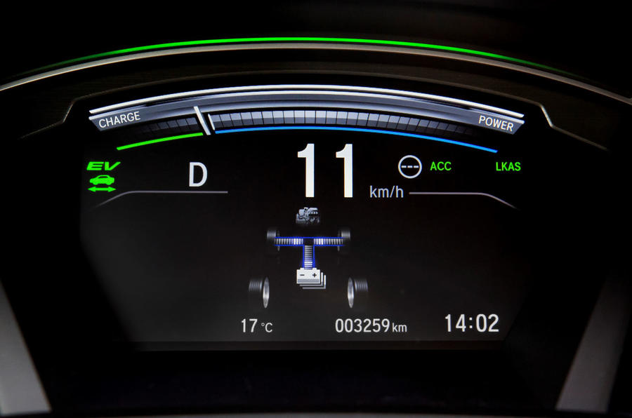 Honda CR-V hybrid 2019 first drive review - instrument cluster