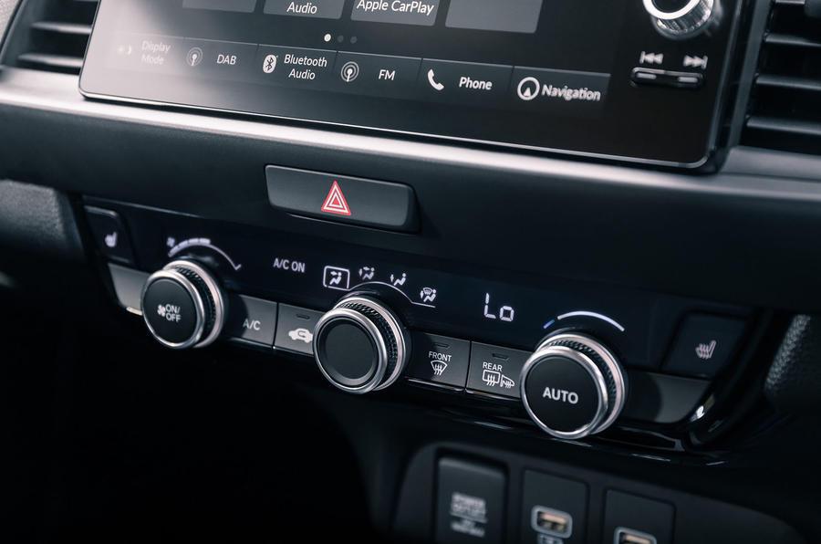 Honda Jazz Crosstar 2020 UK first drive review - climate controls