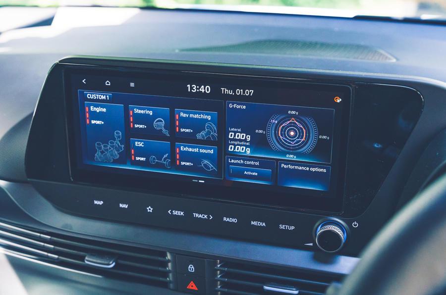 12 Hyundai i20N 2021 RHD UE FD info-divertissement