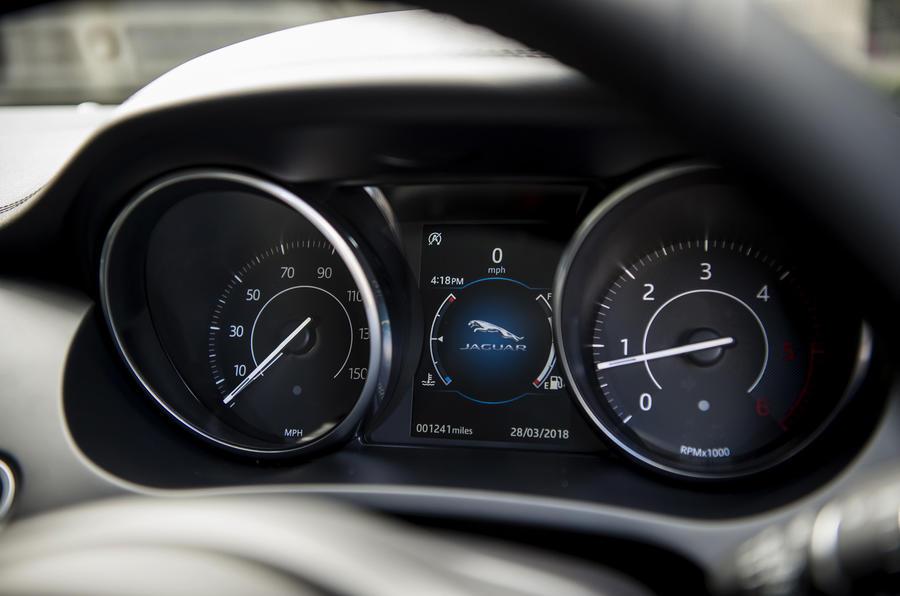 Jaguar E-Pace D150 2018 review instrument cluster