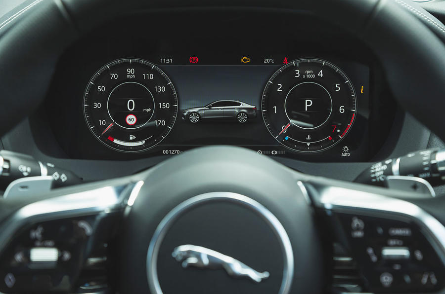 Jaguar XE P300 2019 UK first drive review - instruments