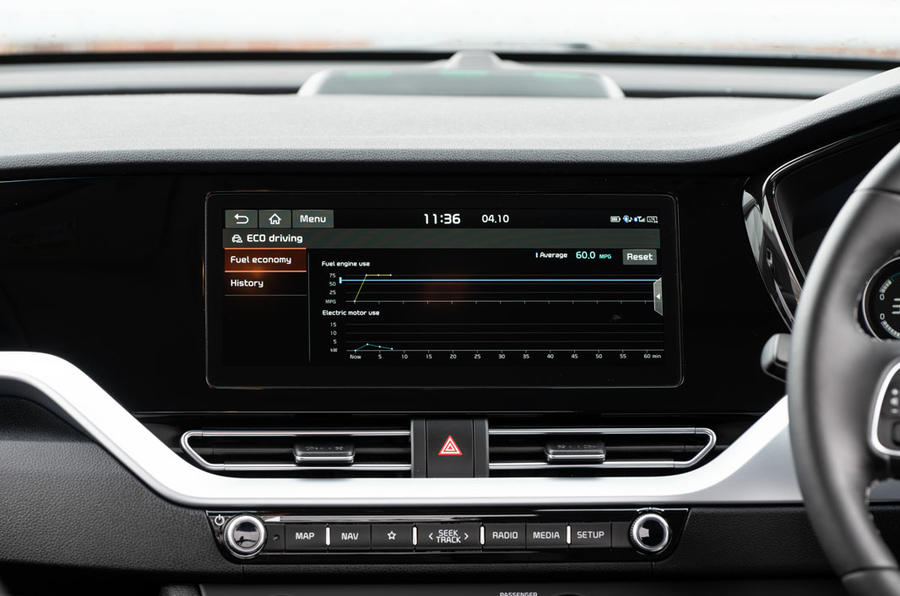 Kia Niro PHEV 2020 UK first drive review - infotainment
