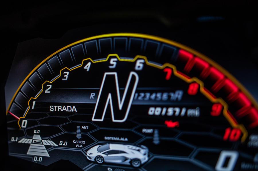 Lamborghini Aventador SVJ 2018 UK first drive review - instruments