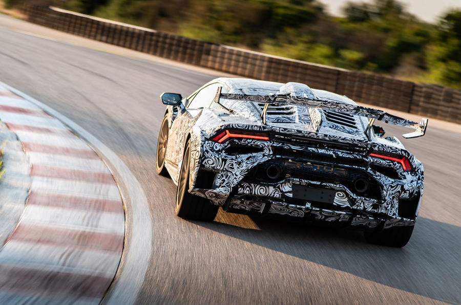 Lamborghini Huracan STO 2020 first drive review - track rear