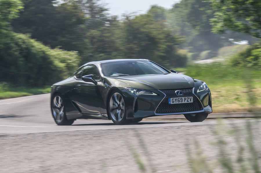 Lexus LC 500 Limited Edition 2020 UK first drive review - cornering front