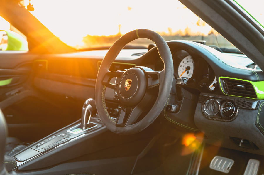 Manthey 911 GT3 RS MR 2020 first drive review - steering wheel