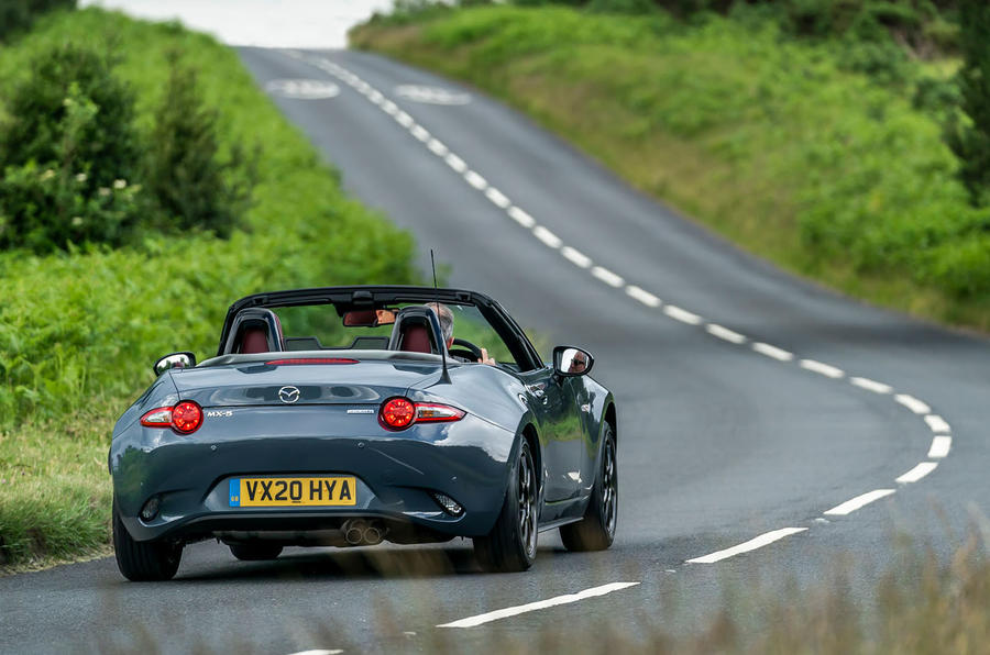 Mazda MX-5 1.5 R-Sport 2020 UK first drive review - on the road rear