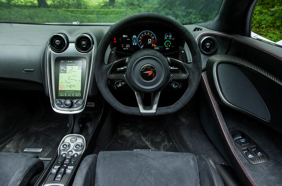 McLaren 570S Spider Track Pack 2018 UK review dashboard