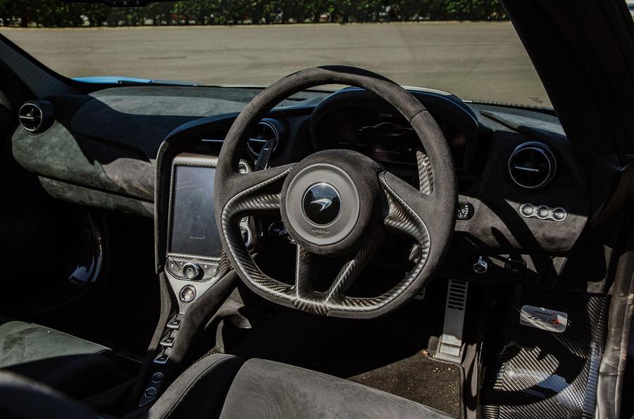 McLaren 720S Spider 2019 UK first drive - dashboard