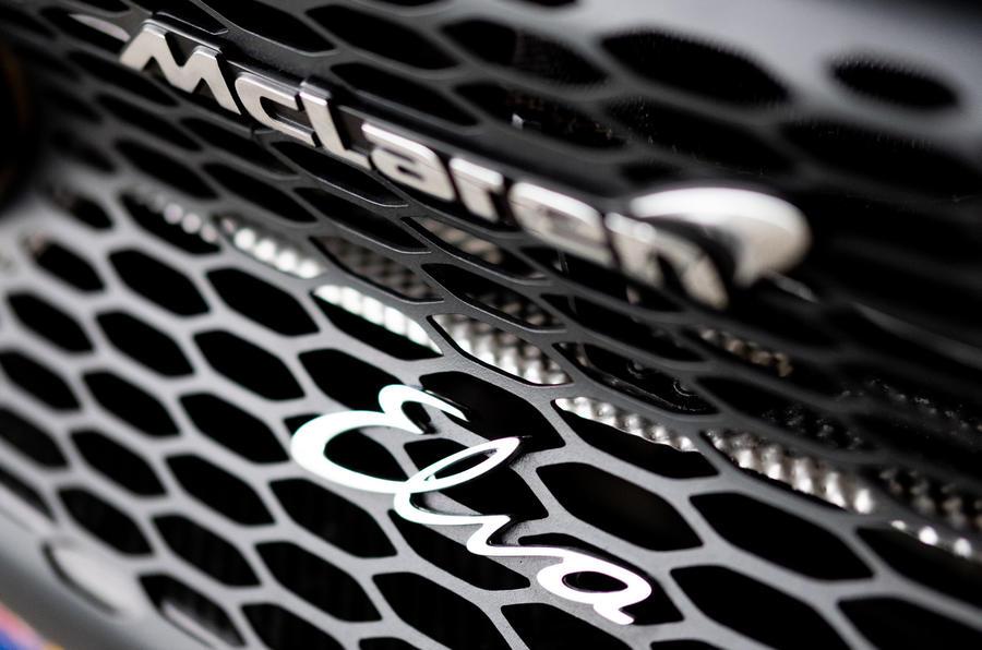 12 Badge arrière McLaren Elva 2021 UE FD