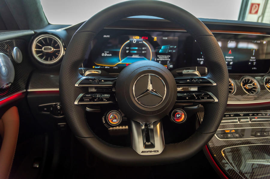 Mercedes-AMG E53 Cabriolet 2020 first drive review - steering wheel