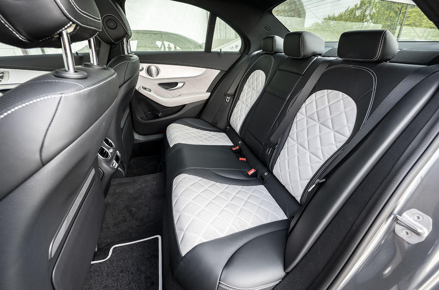 Mercedes-Benz C-Class C200 2018 review rear seats