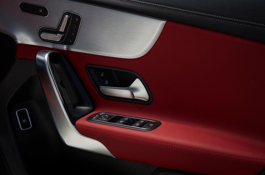 Mercedes-Benz CLA 250 2019 UK first drive review - door cards