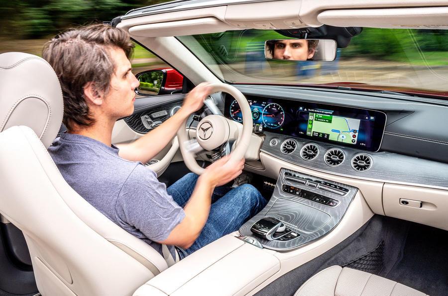 Mercedes-Benz E-Class e450 Cabriolet 2020 UK first drive review - Simon Davis driving